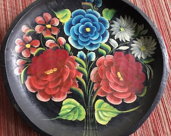 Mexico Art Plate,Mexico Wood Plate,Mexico Flower Plate,Mexico Platter,Mexico Wall Art,Mexico Flower Art,Batea Art,Mexico Art,Mexico Kitchen