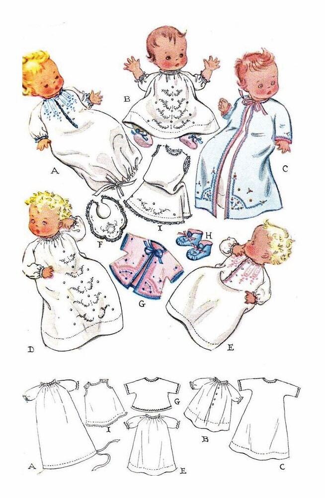 Instant PDF Digital Download Vintage Sewing Pattern to make a