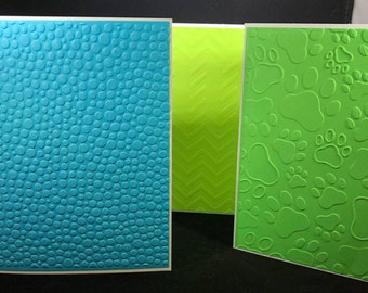 Handmade Embossed Cards, Pack of note cards, Set of 10 blank cards