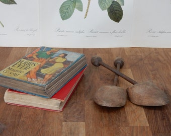 Lovely Vintage Shoe Trees / Stays / Stretchers , Lovely items would look great on display. Shabby Chic, Retro, Boho.Rustic.