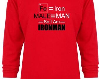 Female Iron Man Avengers Inspired Marvel Scientific sweatshirt
