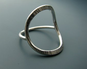 Forged ring - recycled sterling silver ring