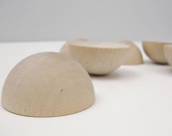 """Split wooden ball 1 3/4"""" (1.75"""") set of 6"""