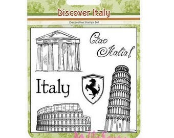 "Clear stamps ""Discover Italy"" 2 scrapbooking embellishment *."