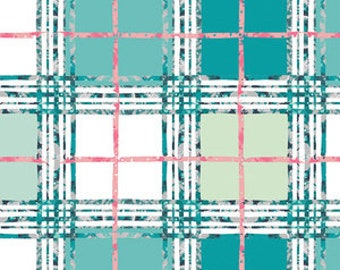 Art Gallery Fabric - lavish trellis plaid fresh