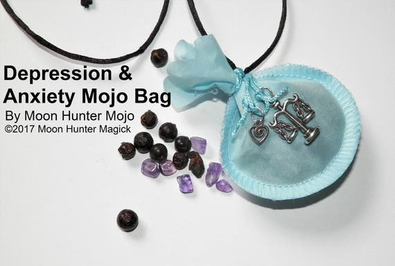 Depression & Peace Mojo Bag Moon Hunter Mojo Hand Made Balance