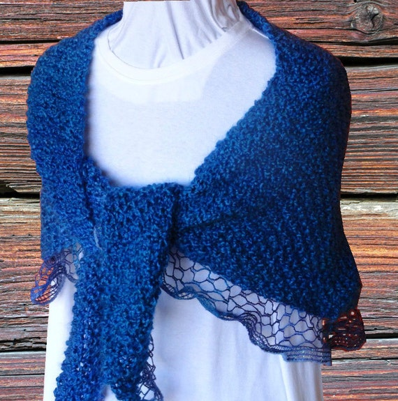 Knit Shawl Pattern Pattern for Sashay Yarn Easy to Knit