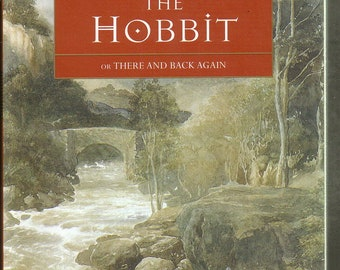 The Hobbit by J R R Tolkien. 1996 Large Paperback  In Like-New Condition. Bilbo, Middle Earth. Pen and Ink Illustrations.