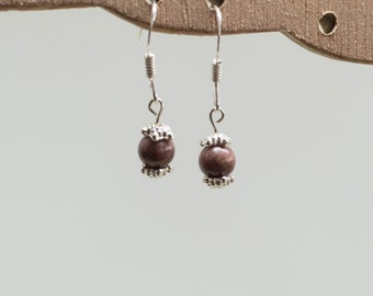 Rhodonite earrings