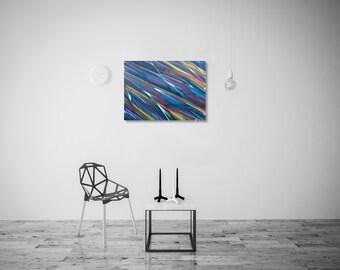 Scission I / Graffiti abstract canvas / Acrylic / Wood frame