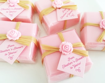 Bridal Shower Soap Favors, Pink Favor Soaps, Baby Shower, Wedding, Thank You, Guest Soaps,