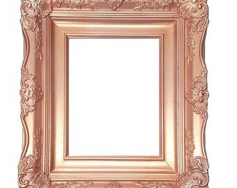 """4"""" Ornate Baroque French Rose Gold Picture Frame Sizes: 5x7 8x10 11x14 16x20 20x24 24x36"""