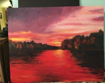 Speing lake sunset