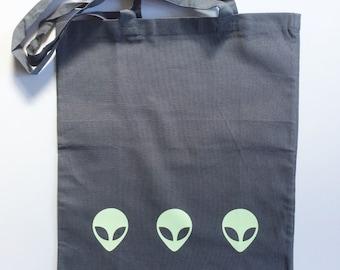 Glow-in-the-Dark 'Space Guy' Tote Bag