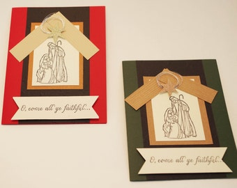 Christmas Card, Religious Christmas Cards, Christmas Wishes, Christmas Card Greetings, Holiday Cards, Nativity Inn Package of 10