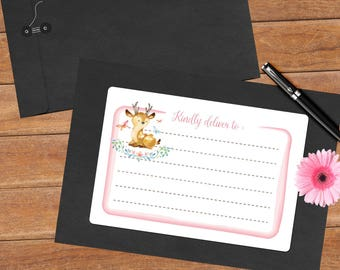 Woodland deer - 8 mailing labels