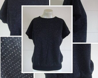 80's Fabulous Black & Silver T-Shirt (S/M)
