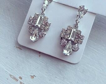 Tilly Bridal drop earrings