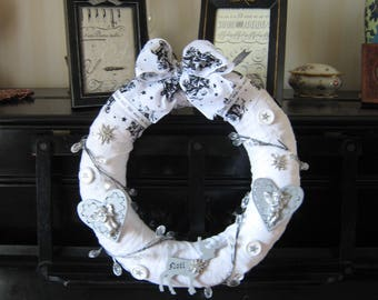 Shabby white and silver Crown