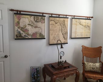 Vintage Map Wall