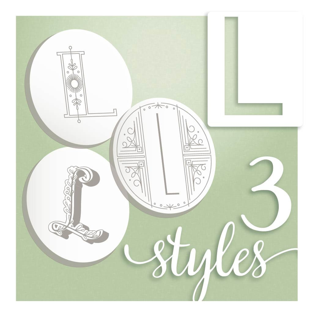 Hand embroidery designs modern monograms letter l hand zoom spiritdancerdesigns Choice Image