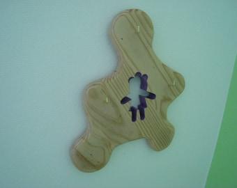 "Keychain ""girl"" Purple splat"