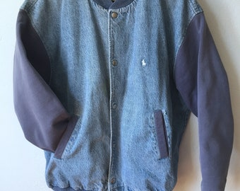 Vintage Jacket, Ralph Lauren, Varsity Jacket, Old school