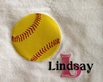 Personalized Baseball Softball Golf Tennis Soccer Greek Monogrammed Sports Cheerleading Hand Towel