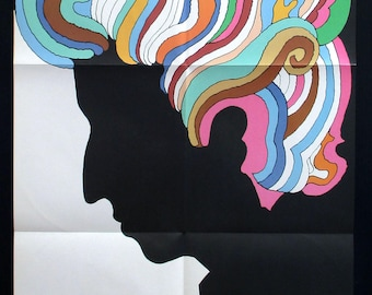 BOB DYLAN original 1967 Milton Glaser poster