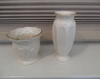 Two Vintage Lenox Pieces - Vase and Bowl