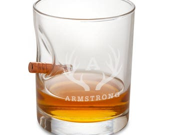 Personalized Bulletproof Lowball Whiskey Glass - Personalized Whiskey Glass - Groomsmen Gifts - Engraved Glass - Gifts for him - RO168