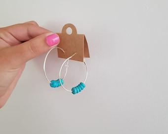 Medium Hoops (BLUE)