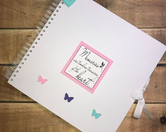 Handmade Personalised Memories Scrapbook / Photo Album / Gift / Memory Book. (more colour options available)