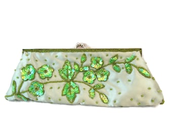 Evening Bag, Clutch, Green, Bridesmaid Clutch, Purse, Wedding Clutch, Bags and Purses, Clutches, Evening Bag, Vintage Clutch, Crossbody