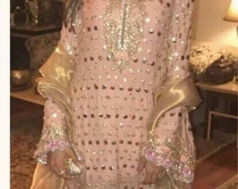 Zehra Saleem inspired, the new devine, salwar, pakistani clothes, festive collection, wedding, pink and gold