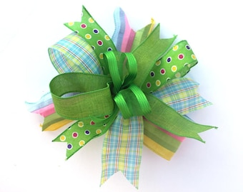Spring Green bow for wreaths, Easter basket bow, lantern bows, holiday bows, wedding bows, spring holiday decor
