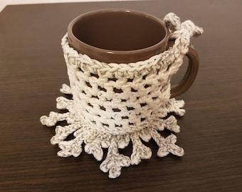 cozy mug and coaster snowflake
