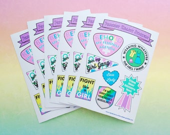 Feminist Killjoy Sticker Sheet - Vinyl Feminism Stickers