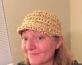 Brimmed Crochet Beanie