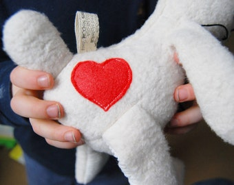Add On Valentines Sewn Heart Customize Doll for Stuffed Animal Toy