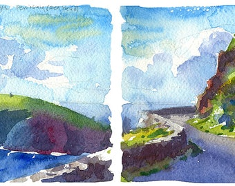 Slea Head Drive, Dingle Peninsula- limited edition Ireland print, signed and numbered, inkjet giclee on watercolor paper