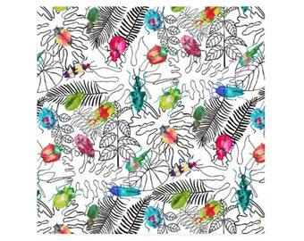 Beetles Art Print-Bug Watercolor-Bug Painting-Insect Art Print-Bug Wall Art-Tropical Leaf Print-Giclee-Wall Decor-Original Watercolor-Prints
