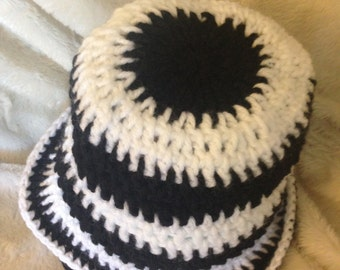 It's All Black and White Stripes Toddler Sunhat