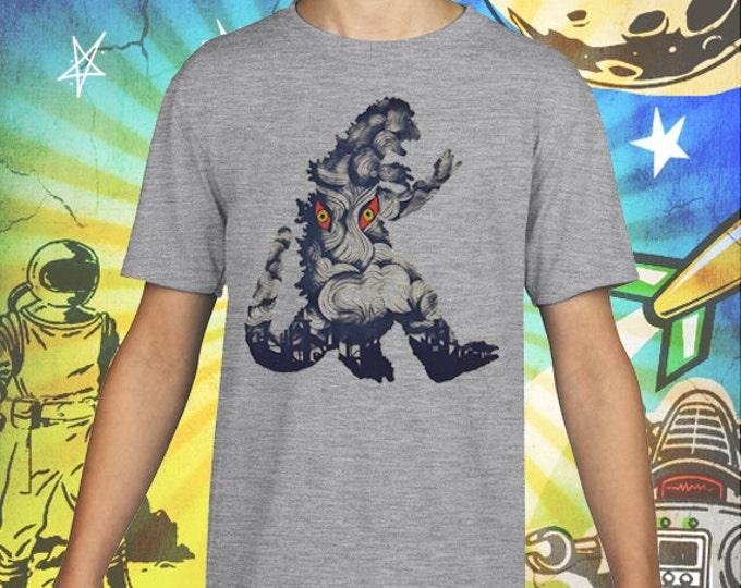 50s Godzilla Monster / Hedora Poster / Gray Child Size Performance T-Shirt