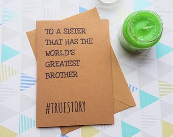 Card for sister, Sister birthday card, Sister birthday, Birthday card, Sister quote, Card for her, Missing you card, Across the miles,