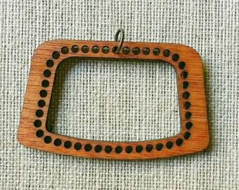 "Stitchable ""Tick Tock"" Pendant Wood DIY *Rich Cherry/ Maple/ Ebony / Red Chestnut Finish*"