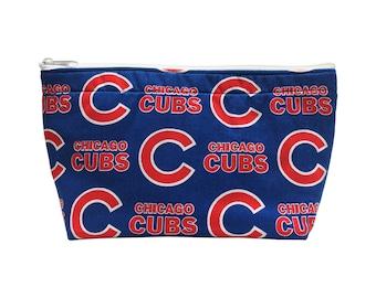 Chicago Cubs Go Bag // Makeup Bag // Cosmetic Organizer // Travel Organizer // Toiletry Organizer // Ready To Ship