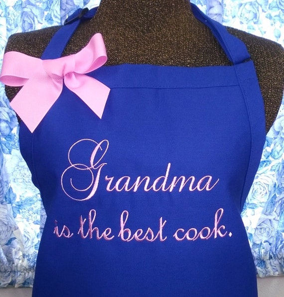 The Best Cookbooks To Give As Wedding Gifts Of 2020: Personalized Apron Grandma Is The Best Cook Monogrammed Gift