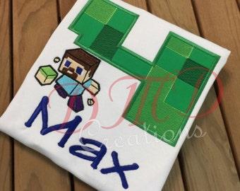 Minecraft Girl or boy birthday  Shirt