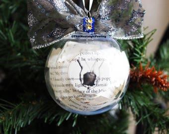Twilight ornament • Bella Swan • Edward Cullen • Twilight Saga • Bibliophile • Christmas Tree • bookish gift • book ornament • xmas